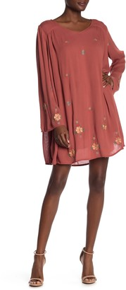 Raga Orange Blossom Floral Embroidered Dress