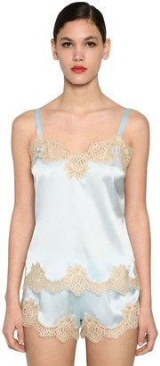 Dolce & Gabbana Silk Satin & Lace Camisole Top
