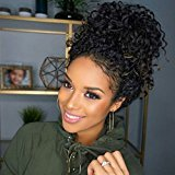 """Vogue Queen Loose Curly Wave Lace Front Wigs Brazilian Virgin Human Hair Wig with Baby Hair Natural Color (20"""" Lace Front Wig, Loose Curly)"""