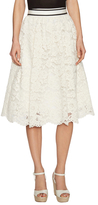 Alice + Olivia Kizzy Lace Mid-Length Pouf Skirt
