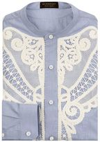 Burberry Embroidered Shawl Shirt