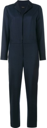 Adam Lippes Notched Lapel Jumpsuit