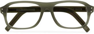 Kingsman + Cutler And Gross Eggsy's Rectangular-Frame Acetate Optical Glasses
