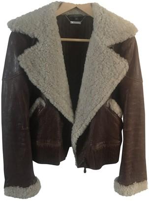 Alexander McQueen Brown Leather Jackets