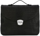 Orciani silver clasp laptop bag