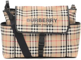 BURBERRY KIDS Check nylon changing bag