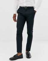 Jack and Jones super slim fit stretch suit trousers in black