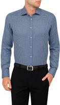 Sand Jacquard Dobby Geometric Shirt