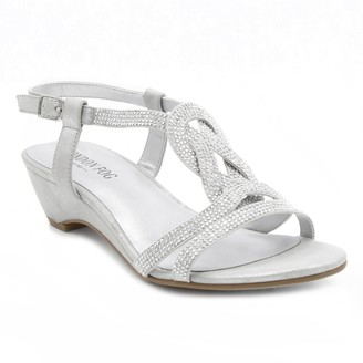 London Fog Macey Women's Wedge Sandals