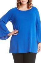Karen Kane Plus Size Women's Bell Sleeve Swing Sweater
