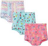 Hanna Andersson White Aqua & Pink Organic Cotton Training Underwear Set