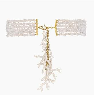 Kenneth Jay Lane Gold And White Coral Belt