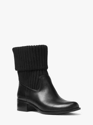 MICHAEL Michael Kors April Leather and Knit Boot