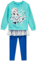 Nannette Disney's Frozen 2-Pc. Layered-Look Sweatshirt & Leggings Set, Little Girls (2-6X) & Toddler Girls (2T-5T)
