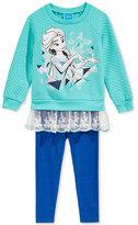 Nannette Disney's Frozen 2-Pc. Layered-Look Sweatshirt & Leggings Set, Toddler & Little Girls (2T-6X)