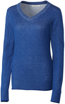 Cutter & Buck Blue McKenzie V-Neck Sweater