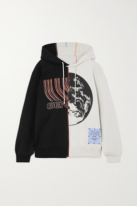 McQ Genesys Appliqued Printed Cotton-jersey Hoodie - Black