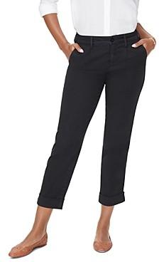 NYDJ Side Stripe Cropped Chino Pants