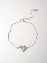 White Stuff Heart pendant bracelet