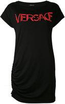 Versace logo printed T-shirt dress - women - Silk/Viscose - 42