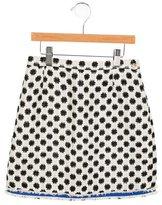Oscar de la Renta Girls' Patterned Silk Skirt