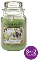 Yankee Candle Large Jar Candle – Olive & Thyme
