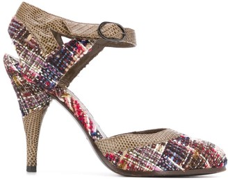 Chanel Pre Owned tweed pumps