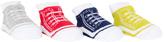 Cutie Pie Baby Red & Lime Sneaker Four-Pair Socks Set
