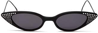 Illesteva Women's Marianne Embellished Slim Cat Eye Sunglasses, 48mm