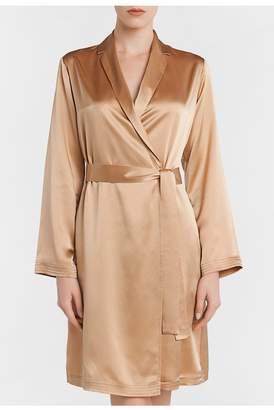 La Perla Silk Caramel Silk Short Robe