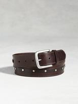 John Varvatos Leather Studded Belt