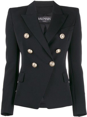 Balmain Structured Embellished Button Blazer