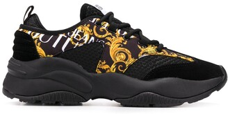 Versace baroque-print low-top sneakers