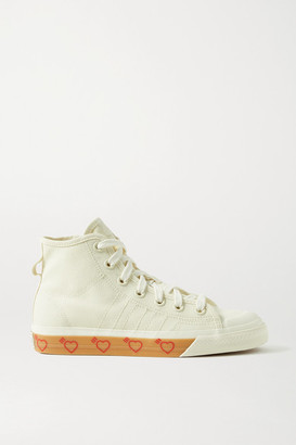 adidas Human Made Nizza Hi Rubber-trimmed Canvas High-top Sneakers - Off-white