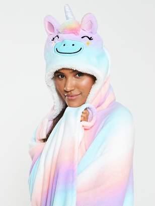 Chelsea Peers CHELSEA PEERS Unicorn Rainbow Blanket - Multi
