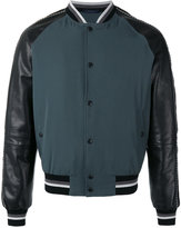 Lanvin piped sleeve bomber jacket