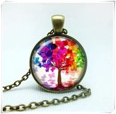 Flowers FLOWER TREE OF LIFE pendant Tree of life necklace pendant Tree of life