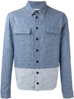 MSGM bicolour denim shirt - men - Cotton/Linen/Flax - 46