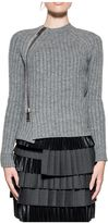 DSQUARED2 Gray Knit Wool Pullover