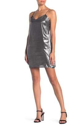 KENDALL + KYLIE Liquid Shine Slip Mini Dress