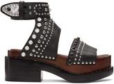 3.1 Phillip Lim Black Nashville Platform Sandals