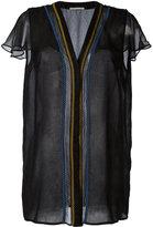Marco De Vincenzo V neck blouse - women - Silk/Polyester/Cupro - 44