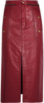 Chloé Leather Pencil Skirt - Claret