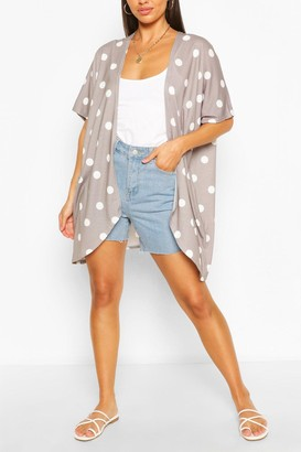 boohoo Spot Kimono
