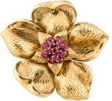 Tiffany & Co. Sapphire Flower Brooch