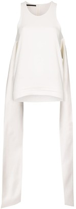 Haider Ackermann Draped Sleeveless Blouse