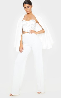 ASA Trad Cream Scuba Wide Leg Trouser