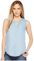 B Collection by Bobeau - Fiona Button Back Shirt Women's Sleeveless