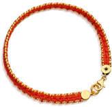 Astley Clarke Hot Coral Woven Biography Bracelet