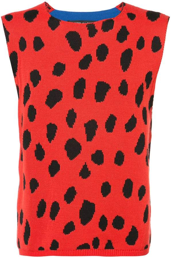 Comme des Garcons dot print knitted top